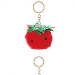 Accessories - Strawberry furry key chain 5.32 inches long